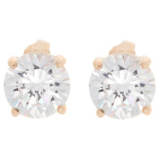 Nexte Jewellery Goldtone or Silvertone Extra Large White Round Cubic Zirconia Earrings