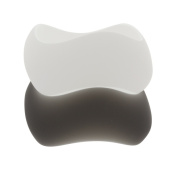 NEXTE Jewellery Black or White Frosted Lucite Bangle Bracelet