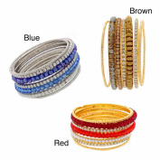 Nexte Jewellery Gold and Silvertone Stackable Bracelets