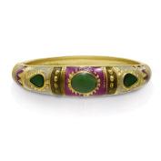 Adoriana Chinese Inspired Enamel Bracelet In Gold Overlay, 18cm