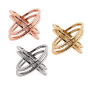 Eternally Haute Brass Double X Cage Ring