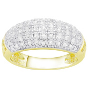 Finesque Sterling Silver 1/2ct TDW Diamond Fashion Ring