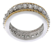 Icz Stonez CZ Sterling Silver Two-tone Ring