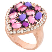 Cabochon Multi-colour Crystal Stone Ring