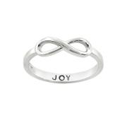 Eternally Haute Sterling Silver Joy Infinity Ring