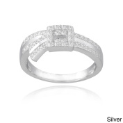 Mondevio Sterling Silver Textured Buckle Ring