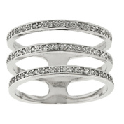 Eternally Haute Pave Triple Threat Layered Ring
