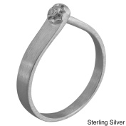 NEXTE Jewellery Sterling Silver Diamond Accent Ring