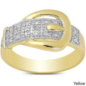 Finesque Diamond Accent Buckle Design Ring