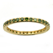 Beverly Hills Charm 14k Yellow Gold 1/2ct TDW Green Diamonds Eternity Stackable Band Ring