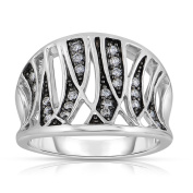 Eloquence 14k Black Rhodium White Gold 1/4ct TDW Fashion Diamond Band