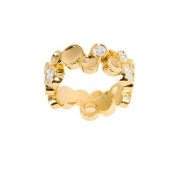 NEXTE Jewellery 14k Gold Overlay Clear Cubic Zirconia Large Bubble-style Eternity Band