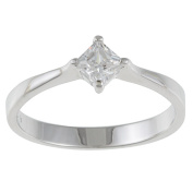 Kate Bissett Sterling Silver White Cubic Zirconia Ring