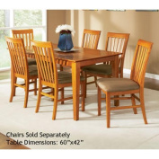 Shaker Dining Table with 42 x 60 Butterfly Top in a Caramel Latte Finish by Atlantic Furniture