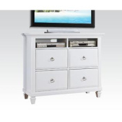 Merivale TV Console with Four Drawers in White by Acme Furniture