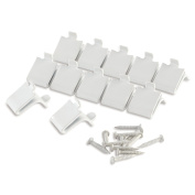 Rubbermaid White Steel Shelf Supports Clips - 12 Count
