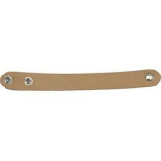 100 Pack of 2.5cm x 23cm Adjustable Leather Wristbands with Pre-attached Snaps