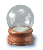 Water Globe For Do-It Yourselfers Measures 10cm Diameter and Has Maple Finish Wood Base.