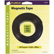 AFG-12345-PGY Heavy-Duty Magnetic All Purpose Tape with Adhesive Roll - 2.5cm x 1