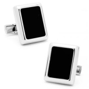 Ravi Ratan RR-425 Silver And Onyx Jfk Presidential Cufflinks