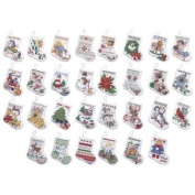 84293 Tiny Stocking Ornaments Counted Cross Stitch Kit-3-1/2 & ' & ' 14 Count Set Of 30