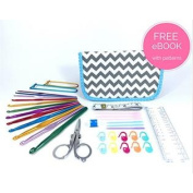 ULTIMATE CROCHET KIT with Crochet Hook Set, Great for Beginners, Fanatics and Newbies Just Learning - This Crochet Hook