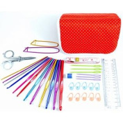 ★ ULTIMATE STARTER CROCHET TOOL KIT ★ The Best Crochet Kit to Learn How to Crochet. 35 Pieces including a custom carryin