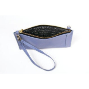 Leather Phone Clutch - Blue
