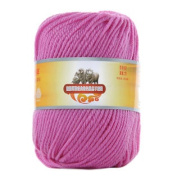 Luxury 100% Soft Lambswool Yarn Thick Quick Yarn Premium Soft Yarn, Pink Purple