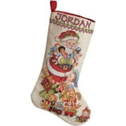 Santa Stocking Counted Cross Stitch Kit-46cm Long 28 Count
