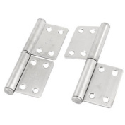 2 Pcs 10cm Long Stainless Steel Two Leaves Door Window Flag Hinges