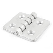 Stainless Steel Cupboard Drawer Door Butt Hinge 60mm Length Silver Tone