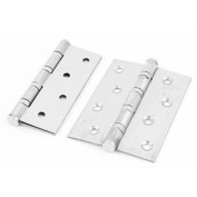 Cupboard Cabinet Stainless Steel Rotatable Door Hinges Hardware 10cm Long 2 Pcs