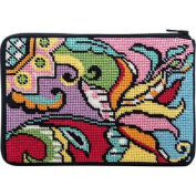 Cosmetic Purse - Modern Tulip - Needlepoint Kit
