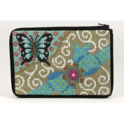 Cosmetic Purse - Butterfly & Bow - Needlepoint Kit