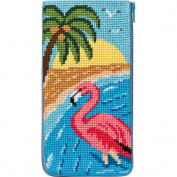 Eyeglass Case - Flamingo - Needlepoint Kit