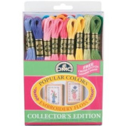 DMC 117F25-PC36 Embroidery Popular Colours Floss Pack, Assorted Colour, 8.7-Yard, 36/Pack