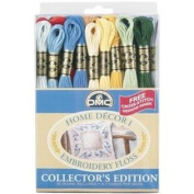 DMC 117F25-HDC Embroidery Home Decor Floss Pack, Assorted Colour, 8.7-Yard, 36/Pack