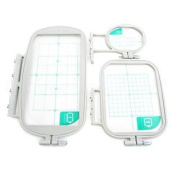 3-Piece Embroidery Hoop Set for Brother HE1 Embroidery Machine