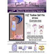11 1/2 Fashion Doll PJs (Barbie) - In the Hoop - Machine Embroidery Designs