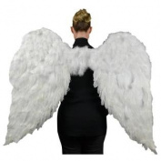 Touch of Nature 11009 Adult Angel Wing in White with Elastic Straps, 130cm by 90cm