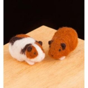 WoolPets Guinea Pigs Wool Needle Felting Craft Kit. Made in the USA.