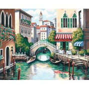 Scenic Canal Paint By Number Kit - 50cm x 41cm