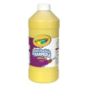 . Tempera Washable Paint 950ml Plastic Squeeze Bottle, Yellow