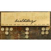 Faith Family Friends Birthday Calendar - Gold