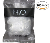 H2O ECO Amenities Disposable Clear Shower Caps, Individually Wrapped Plastic Bag Package, Full Size Adult, 100 Caps per Case