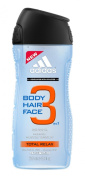 Adidas Total Relax 3in1 Shower Gel, Shampoo & Face Wash 250 ml