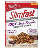 ONLY 2.5cm PACK Slim-Fast Advanced Nutrition 100 Calorie Snacks, Drizzled Crisps, S'mores, 5 Snack Packs by Slim-Fast