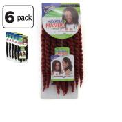 6 Pack of Janet Collection Havana Medium Mambo Twist Braid 30cm Colour 350