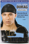 """Annie Mr. Durag Cool Mesh Breathable """"One Size Fits All"""" No 4360 Black"""